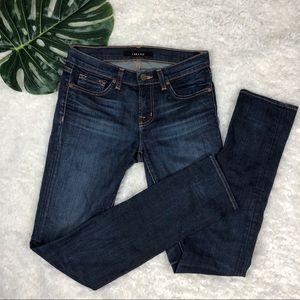 J Brand | Dark Vintage Skinny Straight Denim Jeans